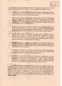 Carta aberta apresentada ao Ministério Público;