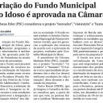 Câmara de Vereadores aprova fundo Municipal do Idoso