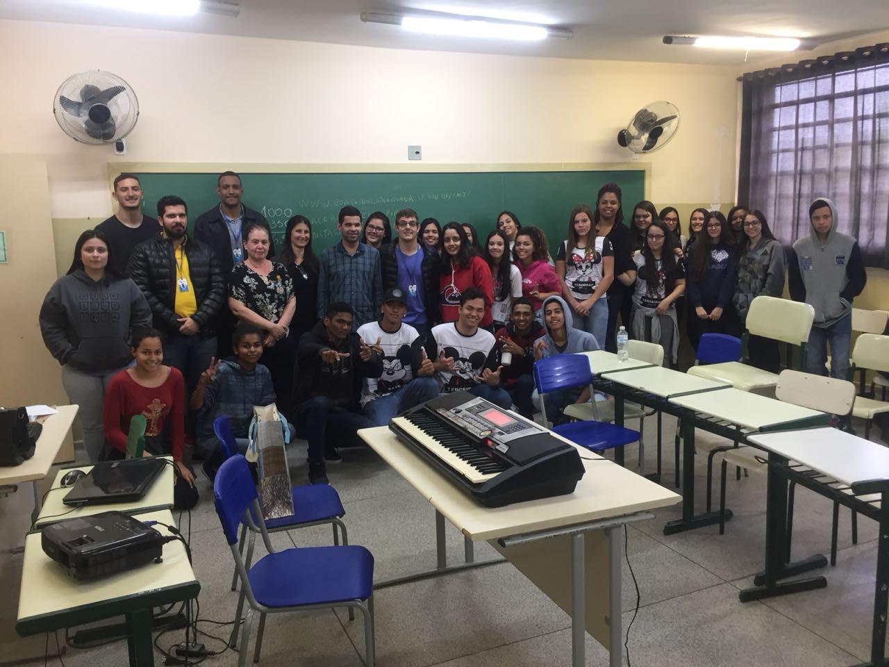 Palestra sobre Inclusão Social, ocorrida no dia 27/08/18 na E.E. Attilio Vidal Lafratta.