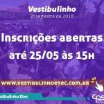 Vestibulinho ETEC - Inscrições Abertas!