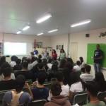 Palestra Educação Financeira (Projeto Pé de Meia), realizada na E. E. Profº Hélio Nering,  no dia 31/08/18.