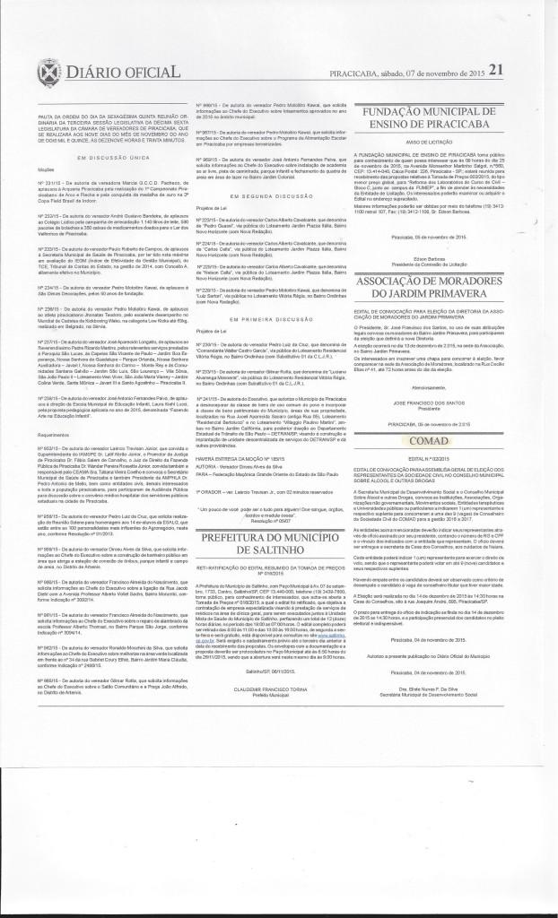 Diario Oficial - COMAD