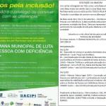 V SEMANA MUNICIPAL DE LUTA DA PESSOA COM DEFICIÊNCIA