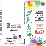 O Conselho Municipal de Proteção, Direitos e Desenvolvimento da Pessoa com Deficiência- COMDEF, tem a honra de convidar V.S.ª para participar da VI Semana Municipal da Luta da Pessoa com Deficiência a ser realizada de 18 a 23 de Setembro de 2017.