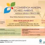 1ª Conferência Municipal de Meio Ambiente de Piracicaba será neste Sábado