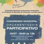 CONGRESSO DO ORÇAMENTO PARTICIPATIVO 2016